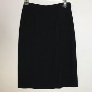 Giorgio Armani • Wool Slit Pencil Skirt
